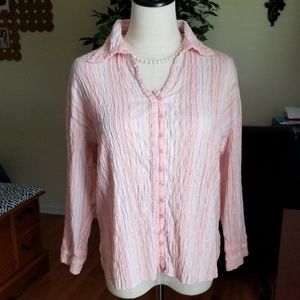 Dress barm button down blouse large